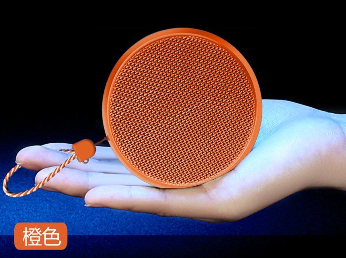 (Orange) Mini Portable Hanging Wireless Bluetooth Speaker