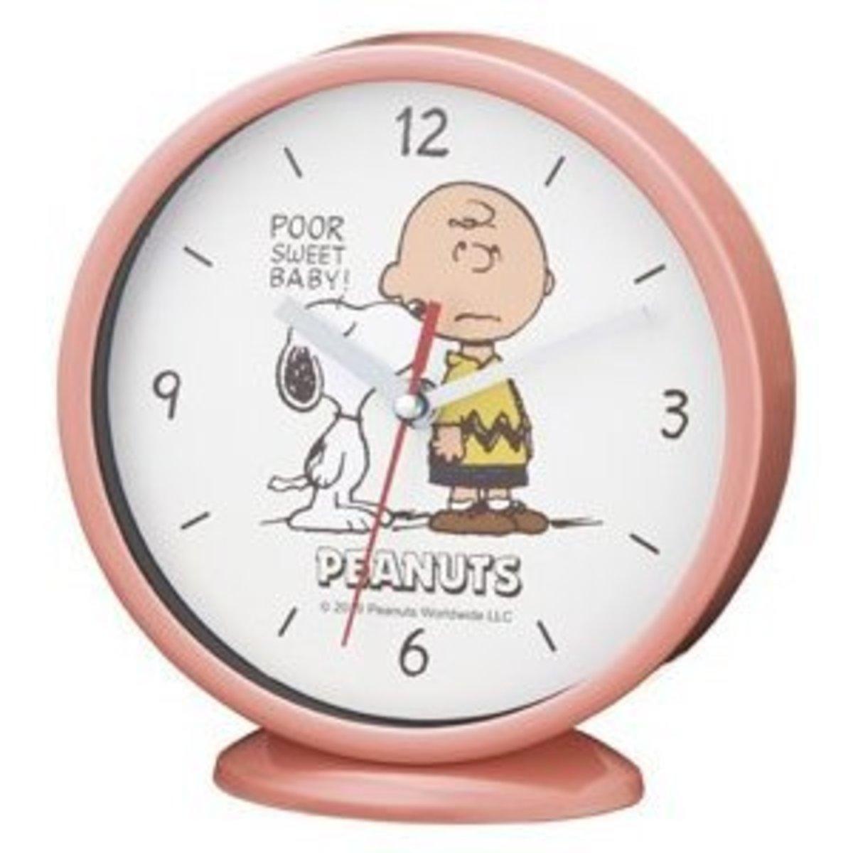 (粉紅色) 日本Snoopy 座枱 / 掛牆時鐘