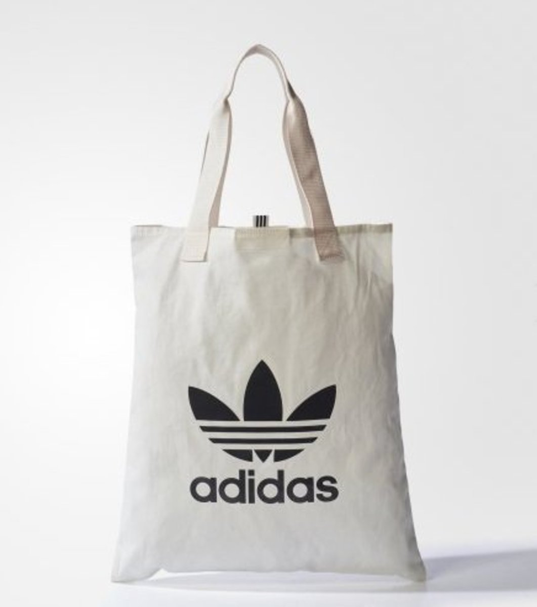 (White Tote Bag) Japan❤️adidas Originals Casual Tote Bag in Simplicity Style