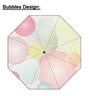 Mini Alu light 3 Section Folding Umbrella, Bubbles