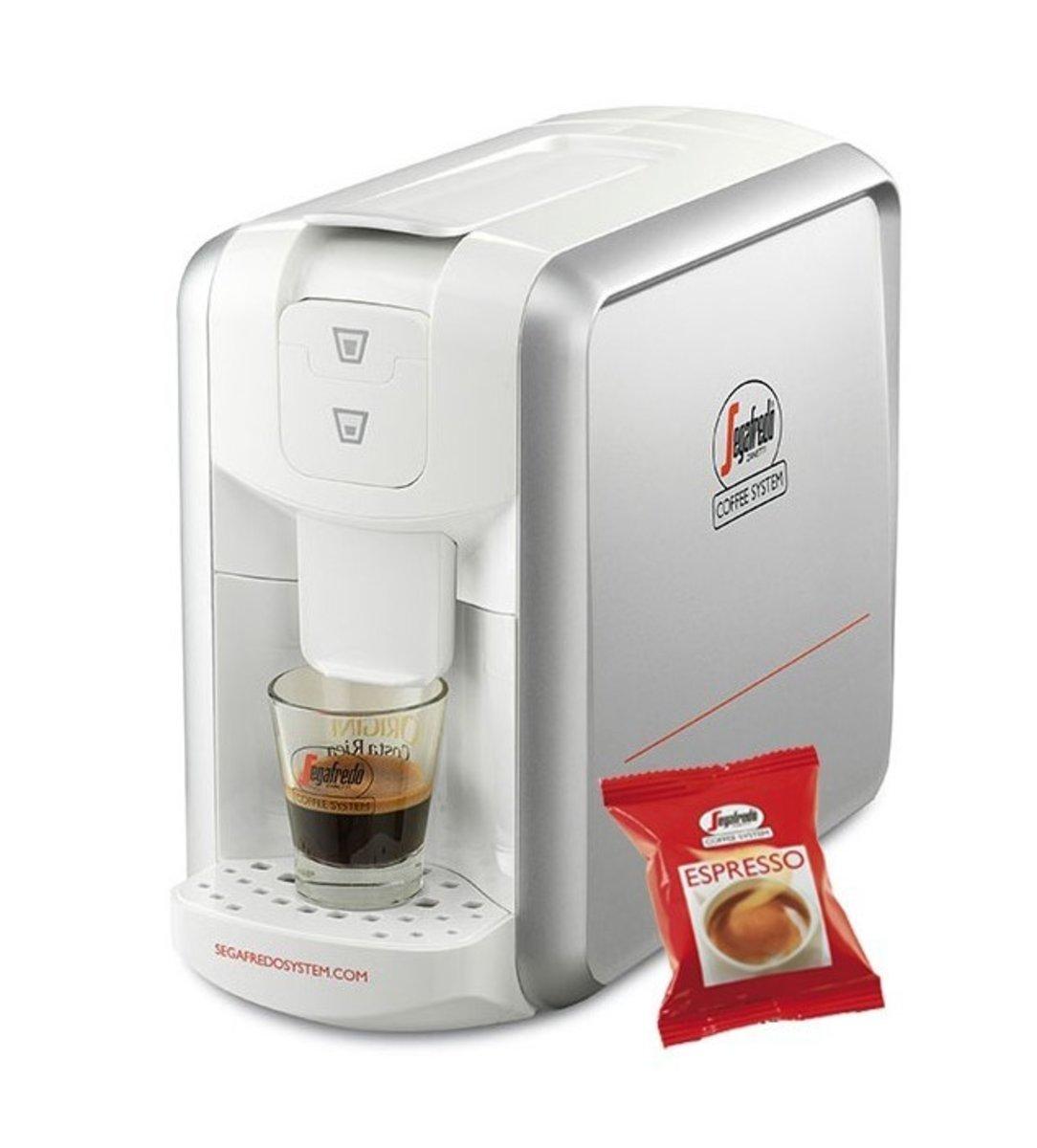 Espresso 1 Coffee Capsule Machine (Silver White)