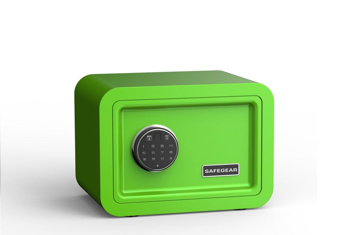 Safegear Fingerprint + Password Safe (GREEN)