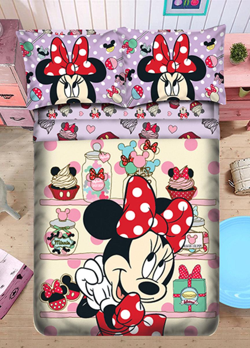 柔絲棉床品套裝 1388針 (床笠+枕袋+被袋) Disney Minnie (MU4900)