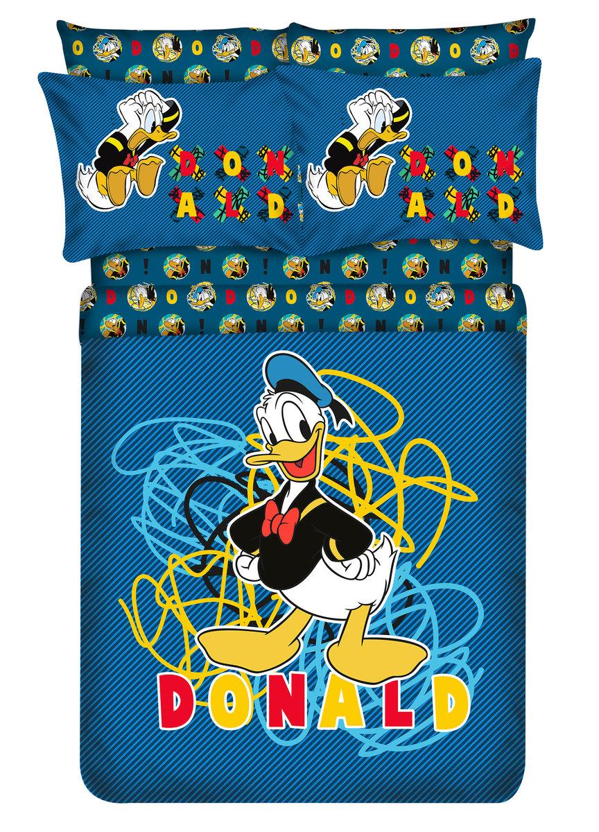 柔絲棉床品套裝 1388針 (床笠+枕袋+被袋) Disney Donald (MU5061) (迪士尼許可產品)