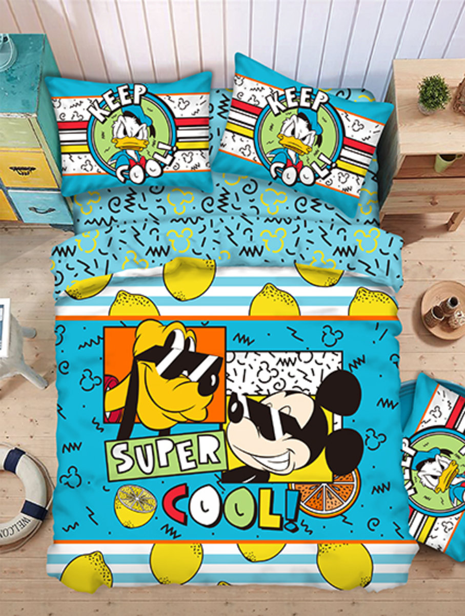 Bedding Set 1388 Threads (Fitted Sheet + Pillow Case + Quilt Cover) Disney Minnie (MU5115) (Licensed by Disney)