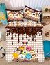 柔絲棉床品套裝 1080針 (床笠+枕袋+被袋) Disney Tsum Tsum (TT297) (迪士尼許可產品)