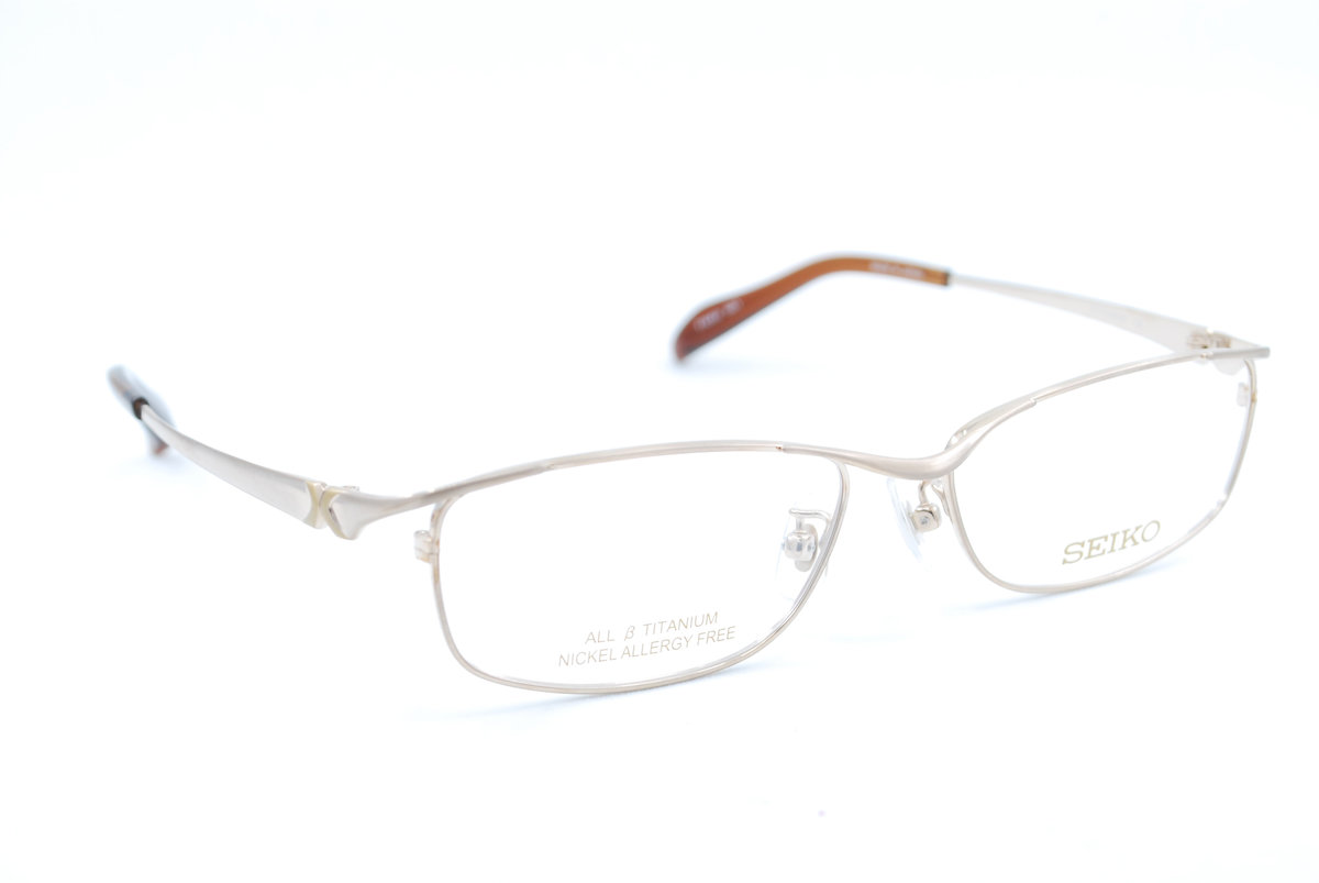 T1053 001 Gold Titanium Eyeglasses