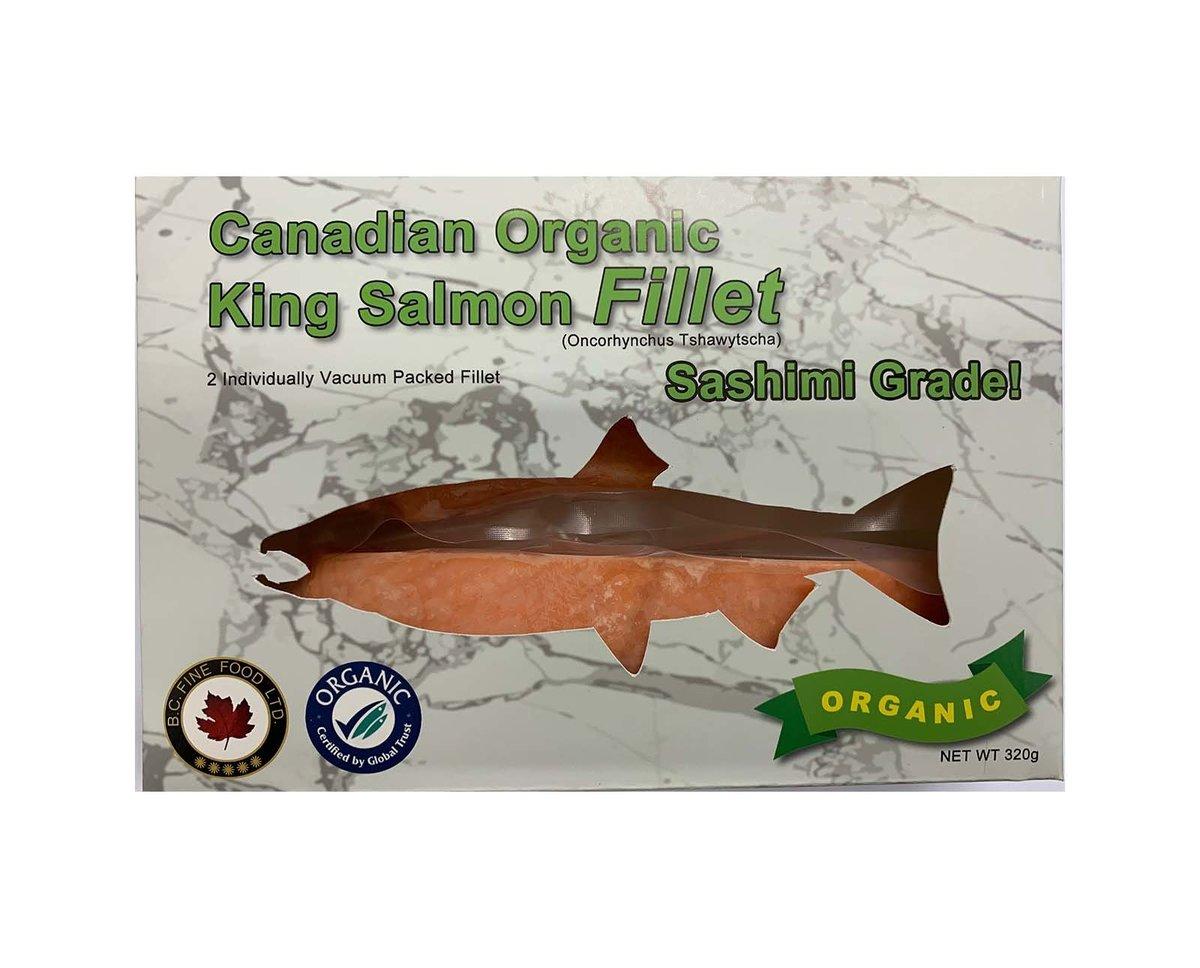 Canadian Organic King Salmon Fillet (Sashimi Grade) 320g