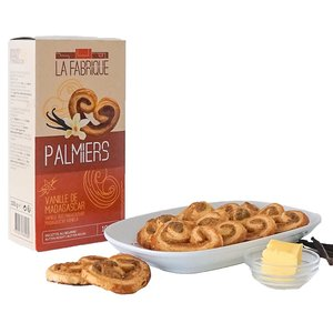 Vanilla Butterfly Cookies, Petit Palmier Cookies, Elephant Ear Pastry - Best before date: 01.12.2020
