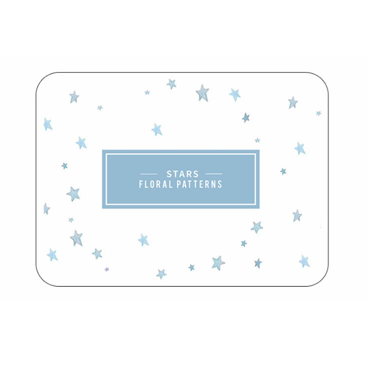 Quick Dry Printed Diatomite Bath Mat (Star - L size)