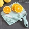 陶瓷水果刀+砧板套裝 (淺藍色)