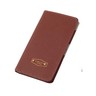 Korean leather travel passport wallet (Brown)