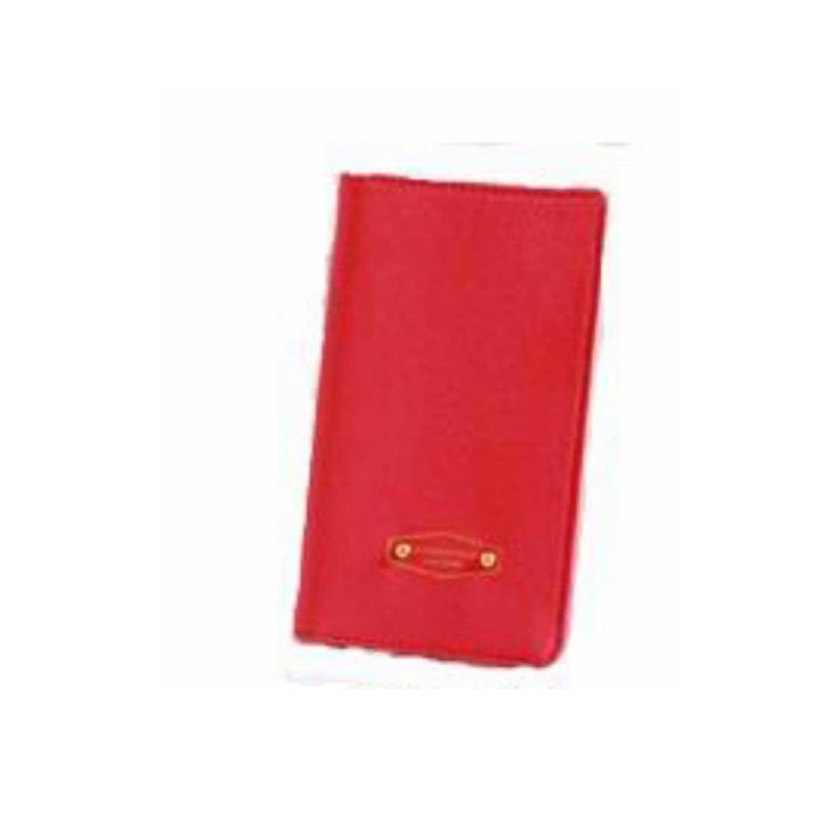 Korean leather travel passport wallet (Red)