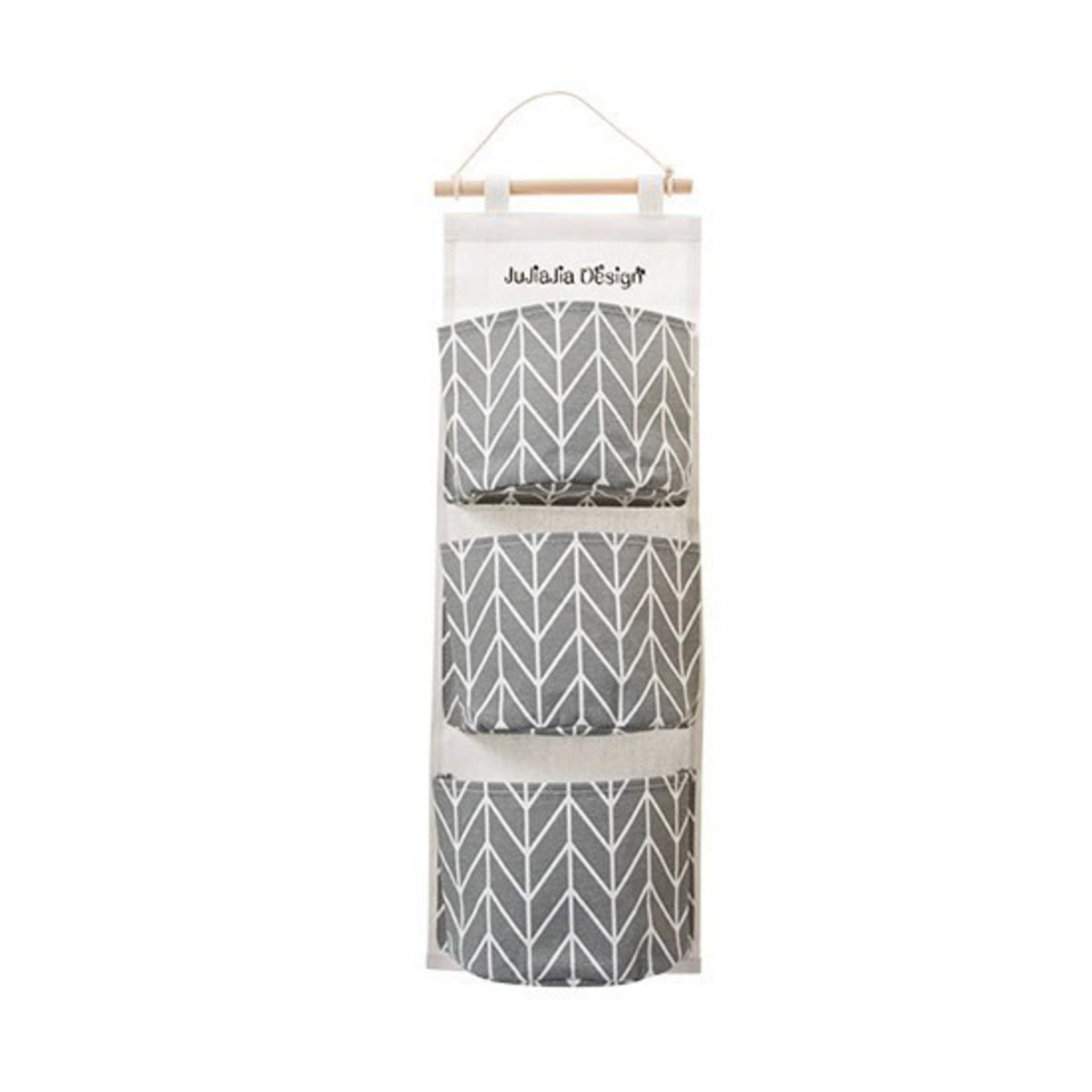 Hanging Organiser with 3 Pockets (Grey)