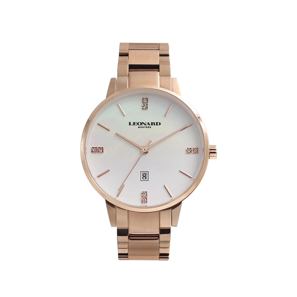 經典圓形腕錶 LLC1019-15R