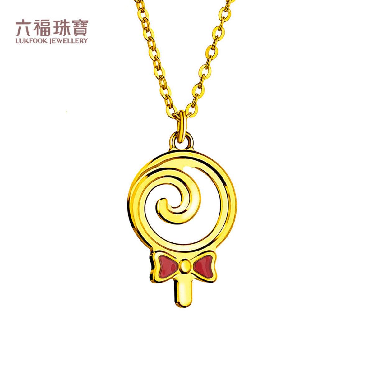 Dear Q Au999.9 Necklace with Colored Pigment