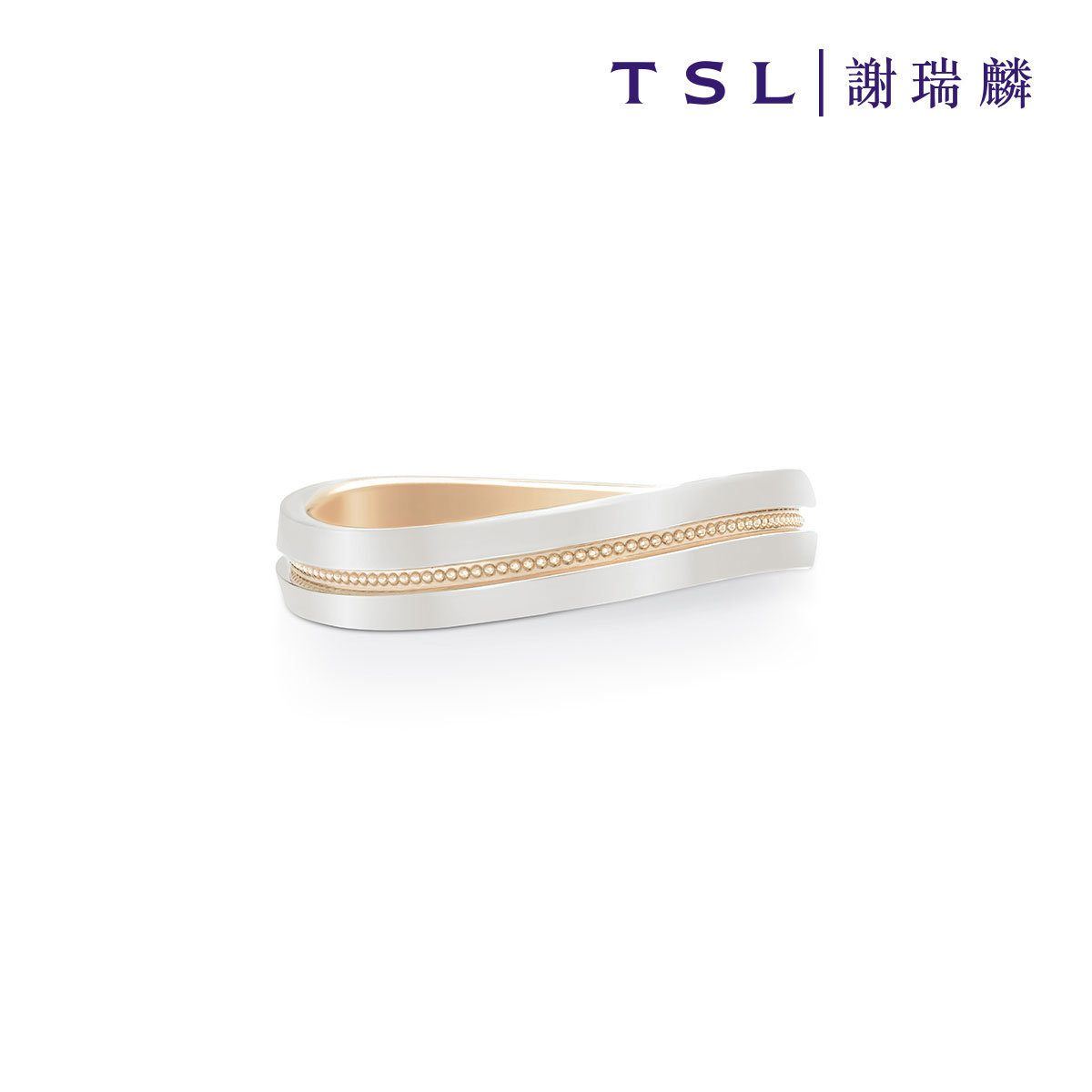 Classic Collection 18K Rose Gold and 950 Platinum Ring