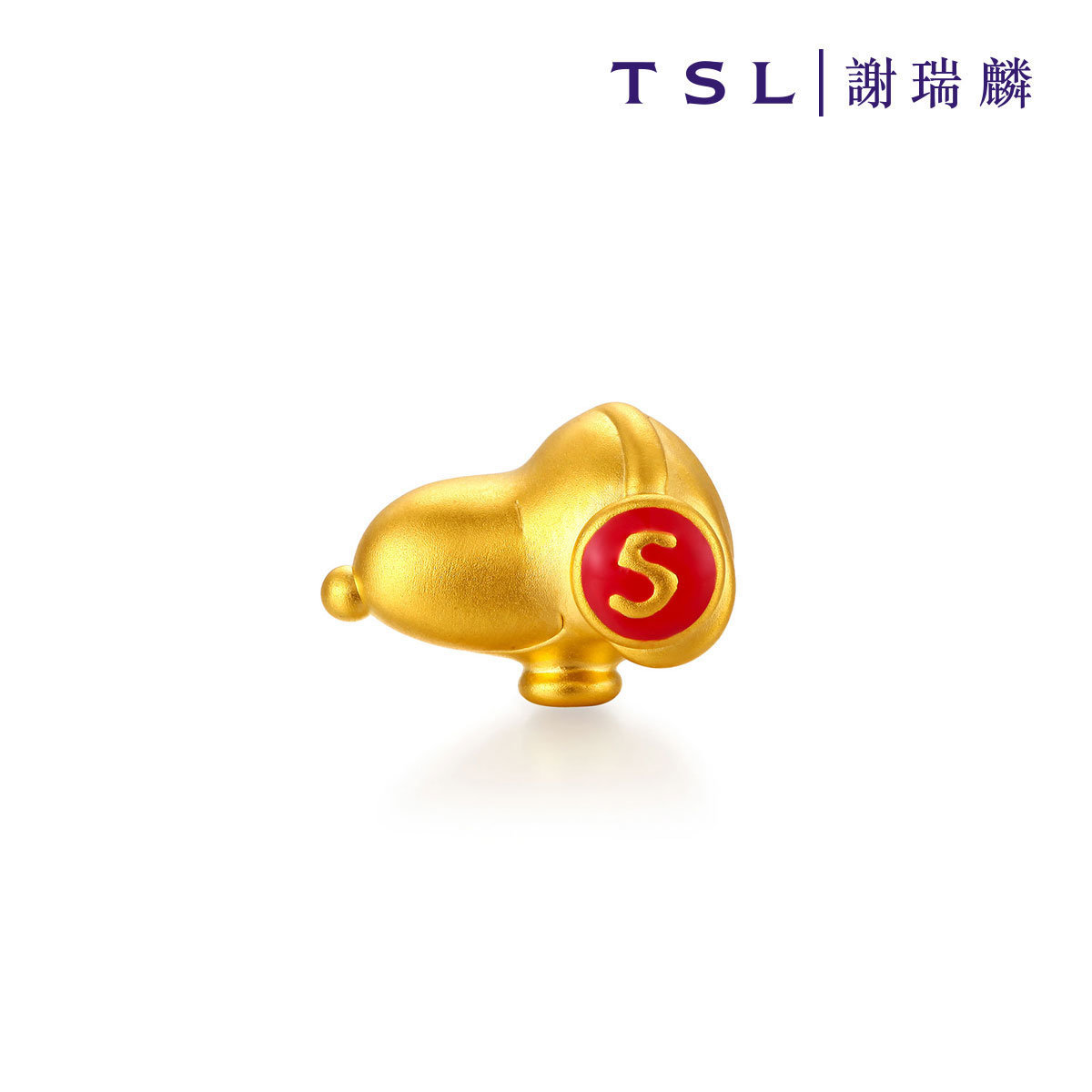 Snoopy 999 Gold Charm