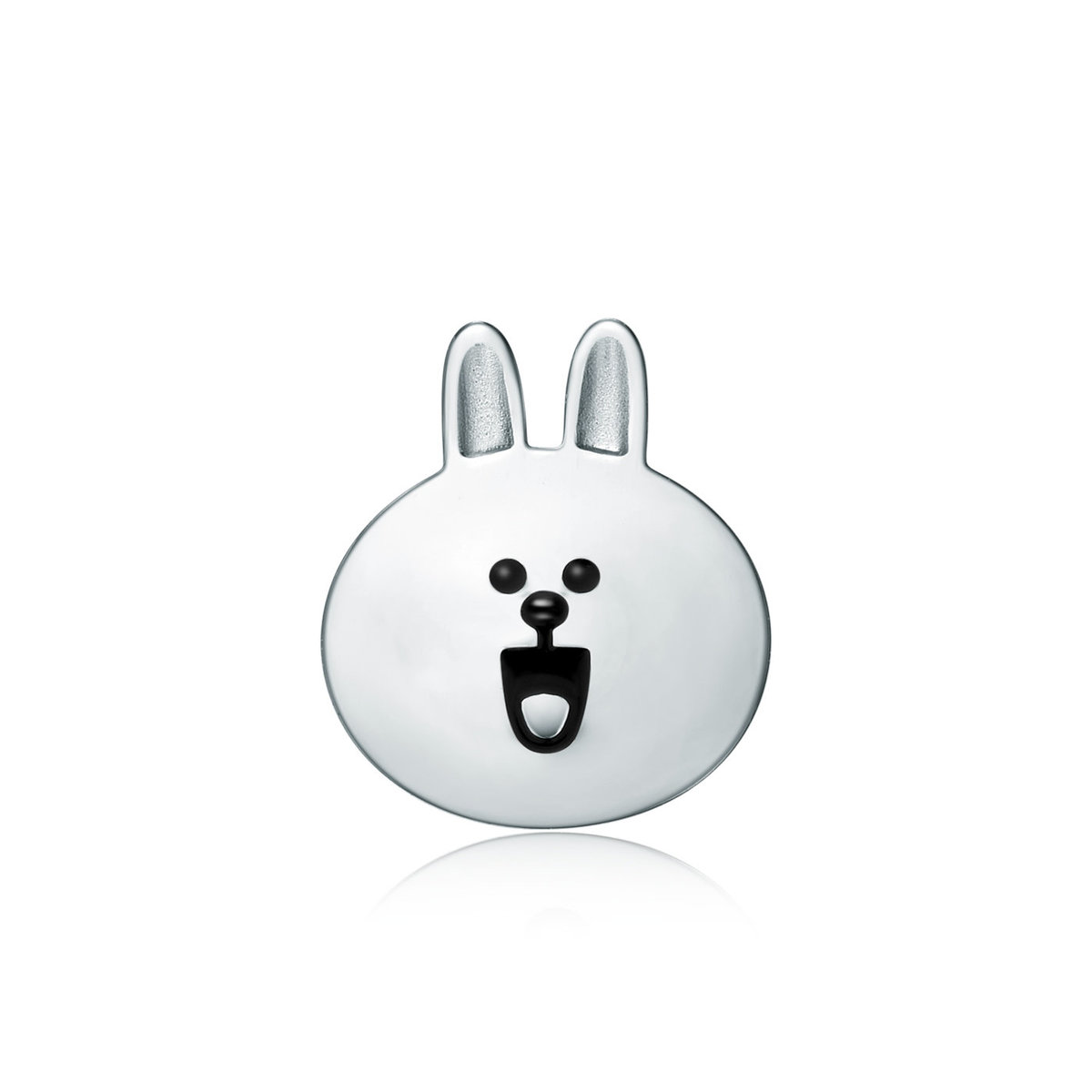 LINE FRIENDS Collection: Cony 18K/750 White Gold Earring (Single)