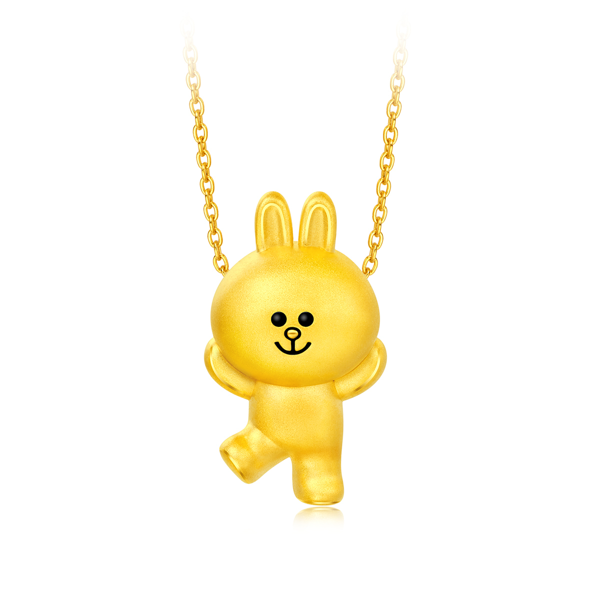 LINE FRIENDS Collection: CONY 999 Gold Pendant