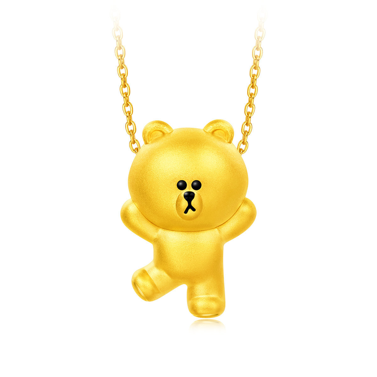 [Flash Sales] LINE FRIENDS Collection: BROWN 999 Gold Pendant( each account limited purchase 1 pc)