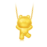 LINE FRIENDS Collection: BROWN 999 Gold Pendant
