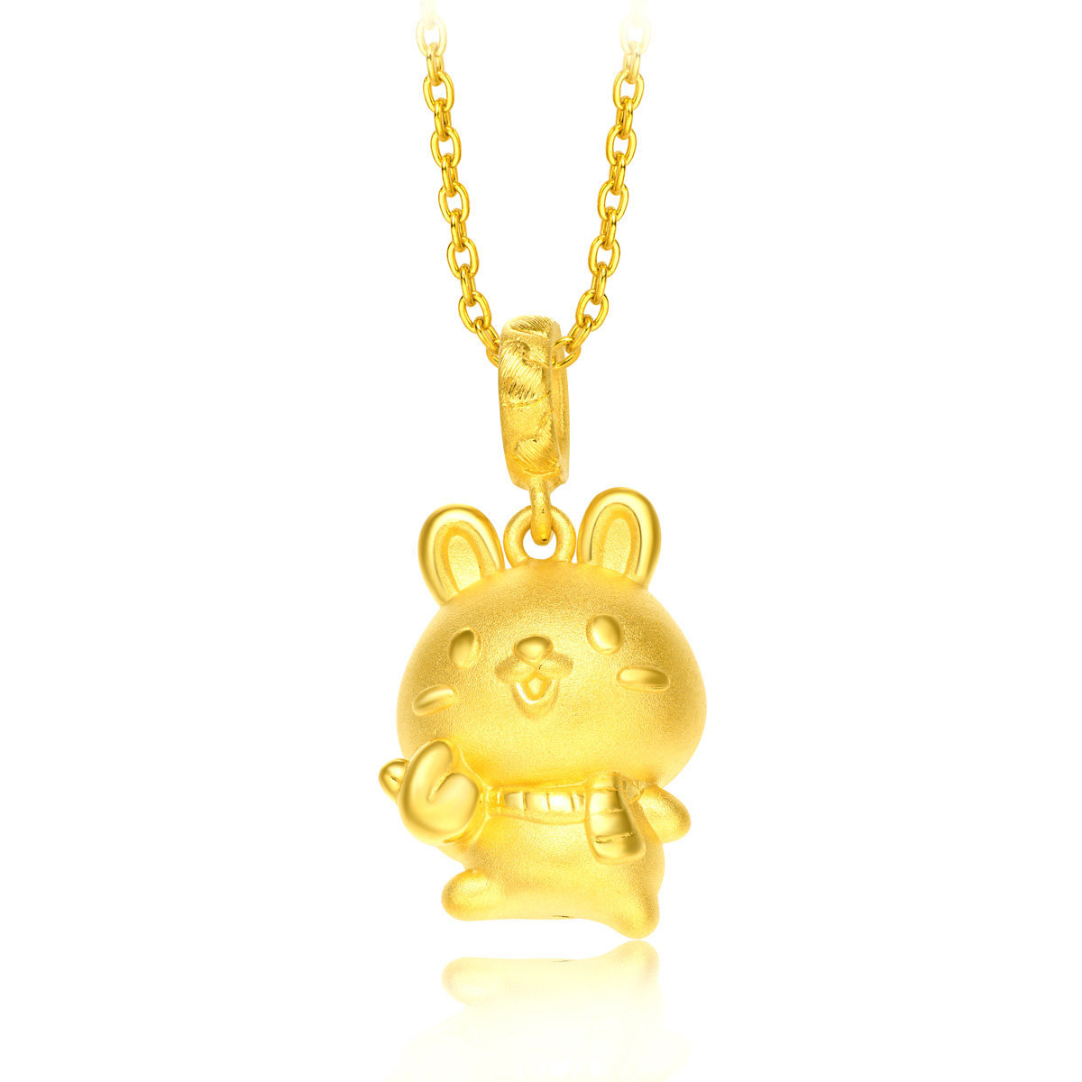 12 Animals of the Chinese Zodiac: Rabbit 999 Gold Charm (with String)