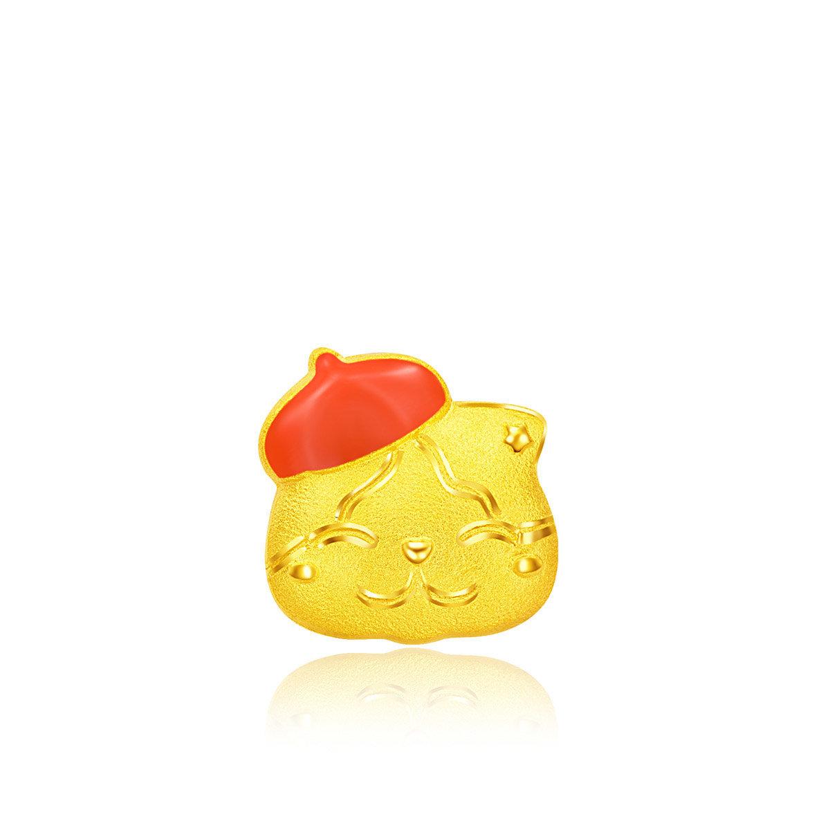 Ah Meow 999.9 Gold Earring (Single)