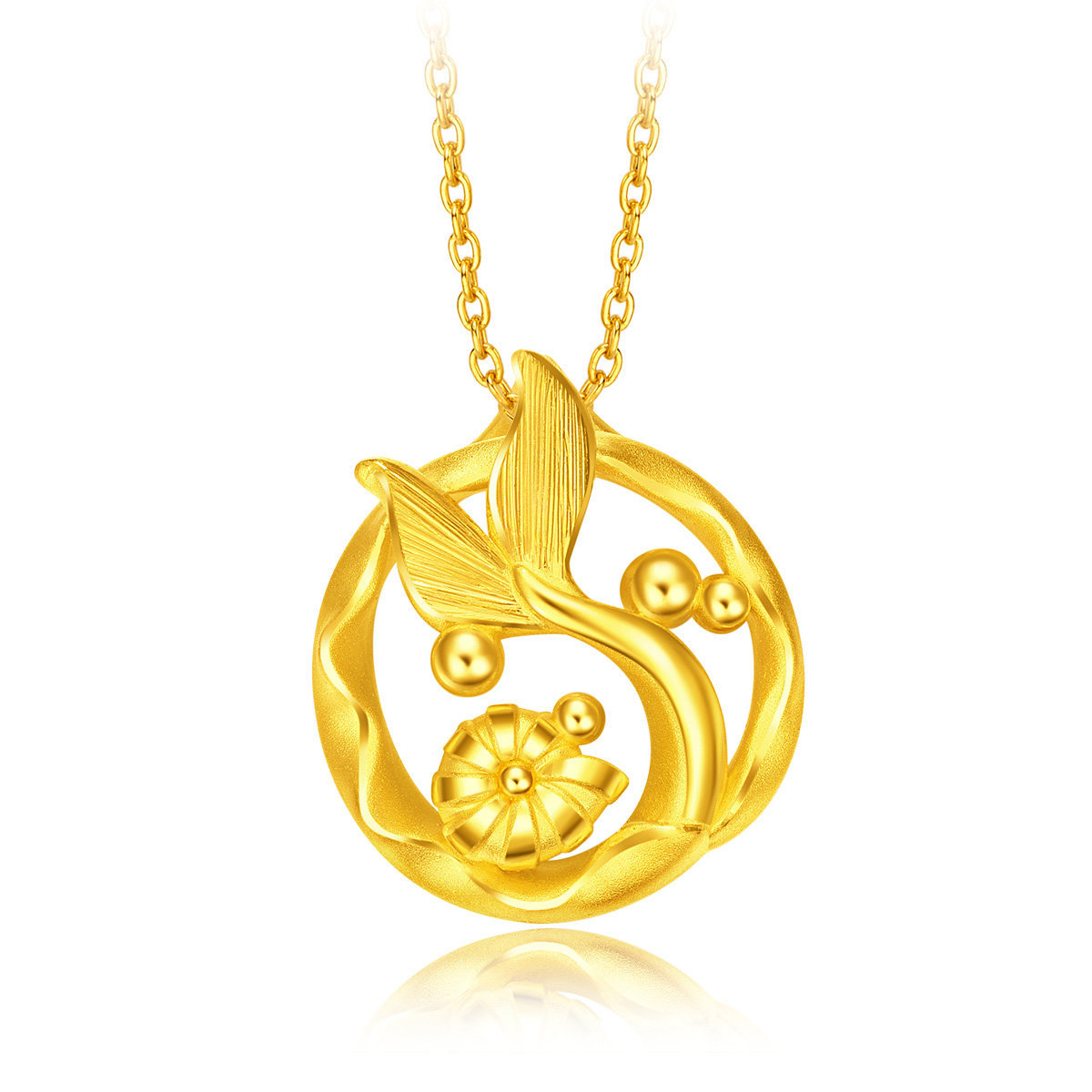 Disney Princess Collection: Little Mermaid 999 Gold Pendant