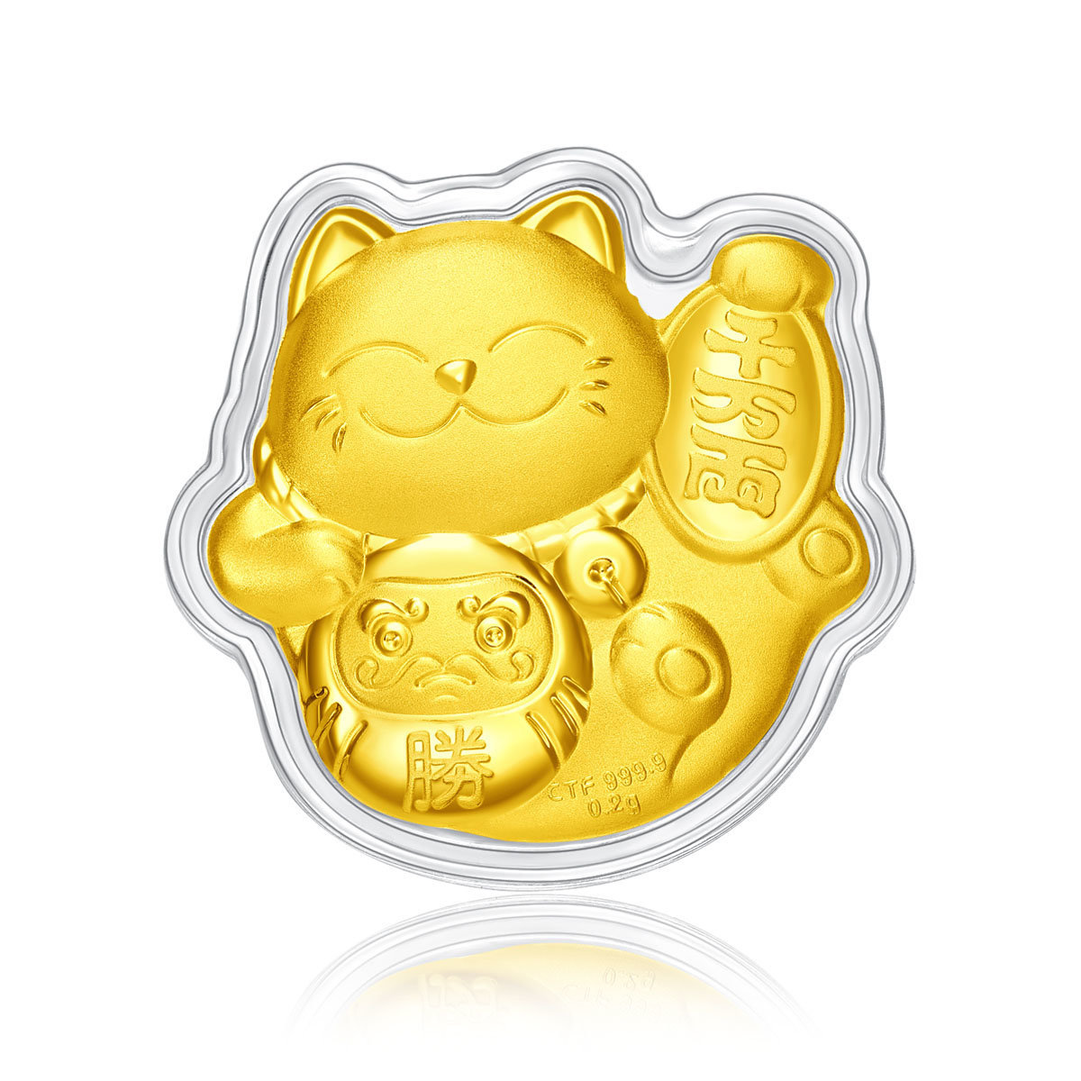 Fortune Cat 999.9 Gold Coin (with Card Holder)