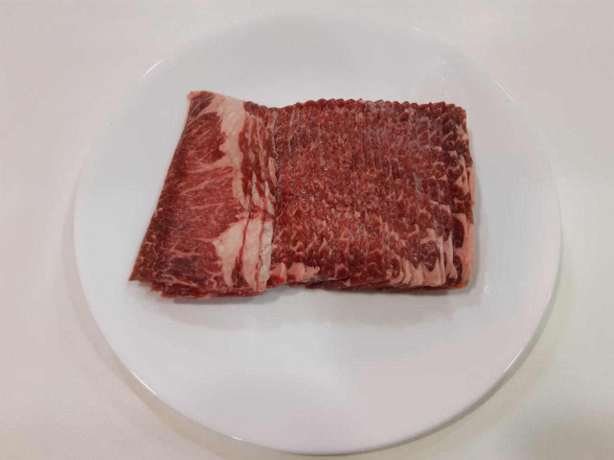 美國雪花脖蘭肉火鍋片 300g