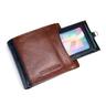 Fine Grain Buffalo Removable Passcase Wallet With Coin Pocket