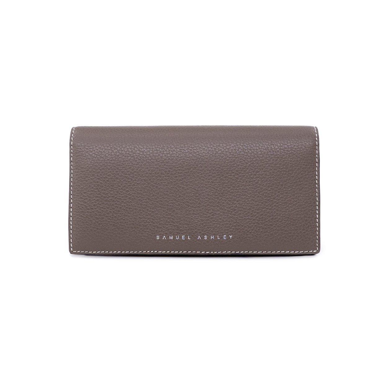 Addison Bifold Long Wallet - Mocha