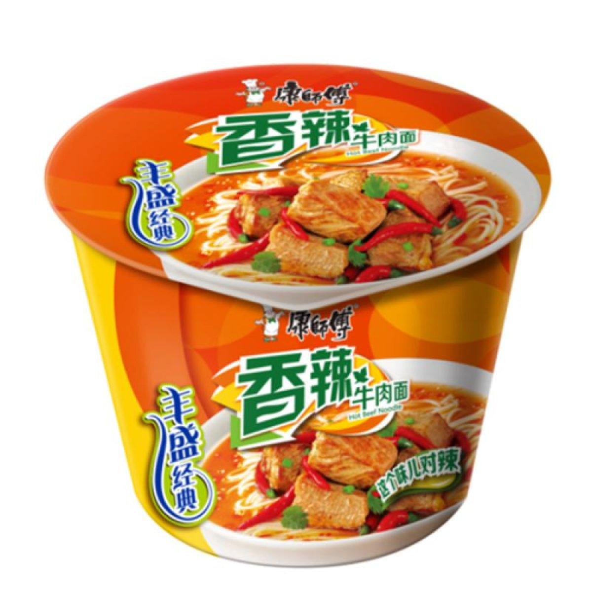 康師傅-香辣牛肉麵杯麵(108g*2杯)