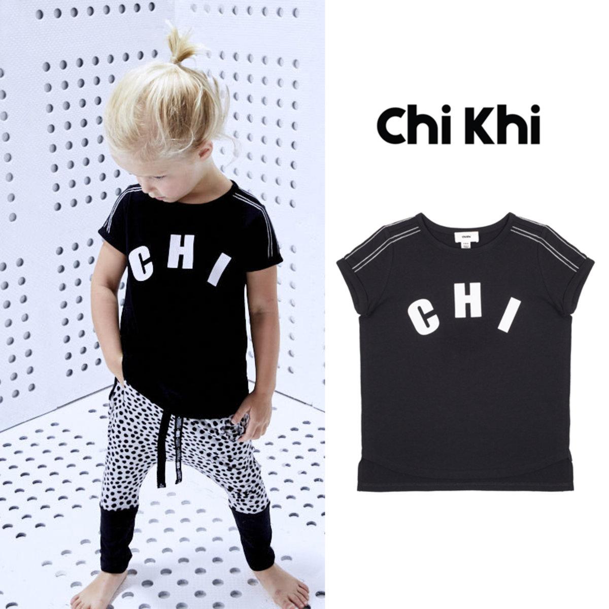 CHI KHI - ROLLIN TEE - BLACK CK21006BC