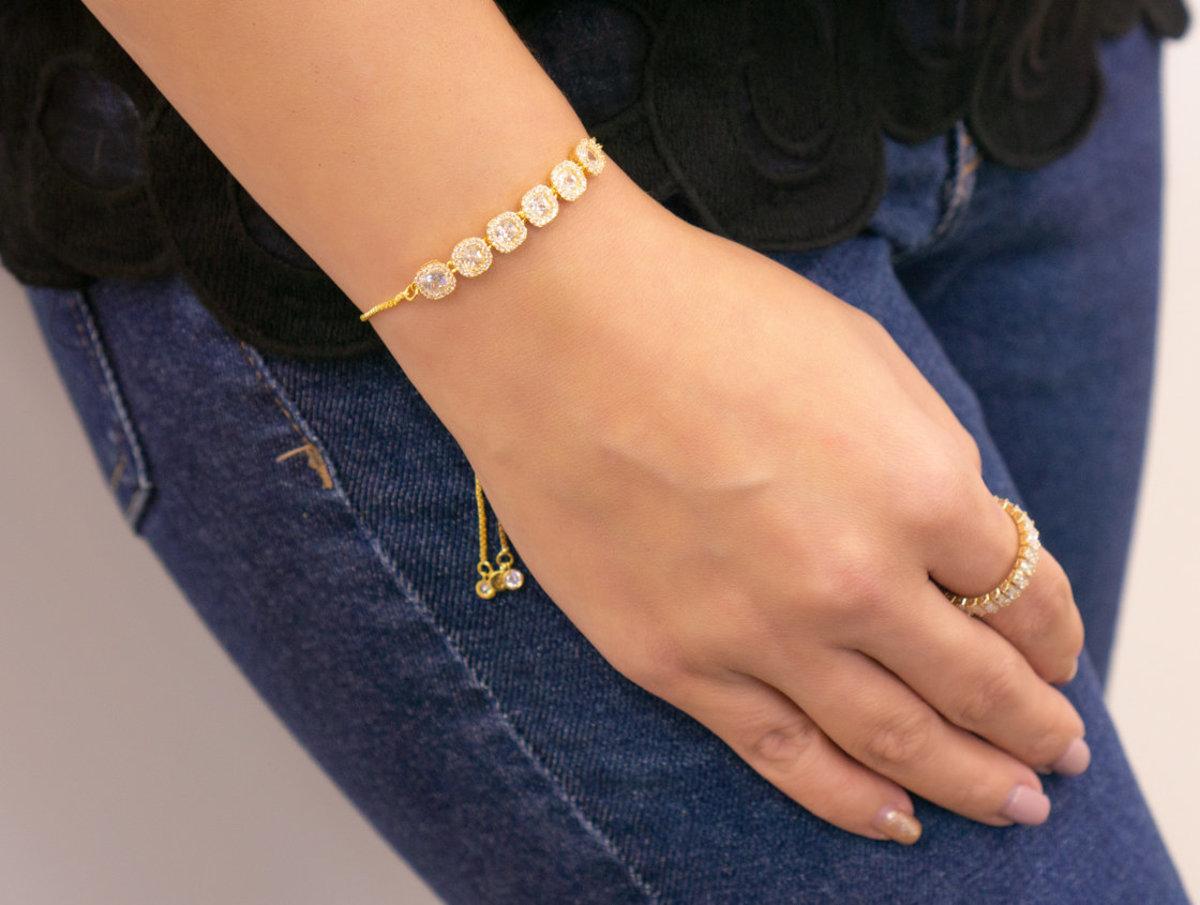 Princess Bling Bracelet - Gold Color
