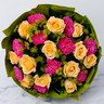 Mixed Roses and Carnations Bouquet