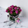 紫玫瑰配花瓶