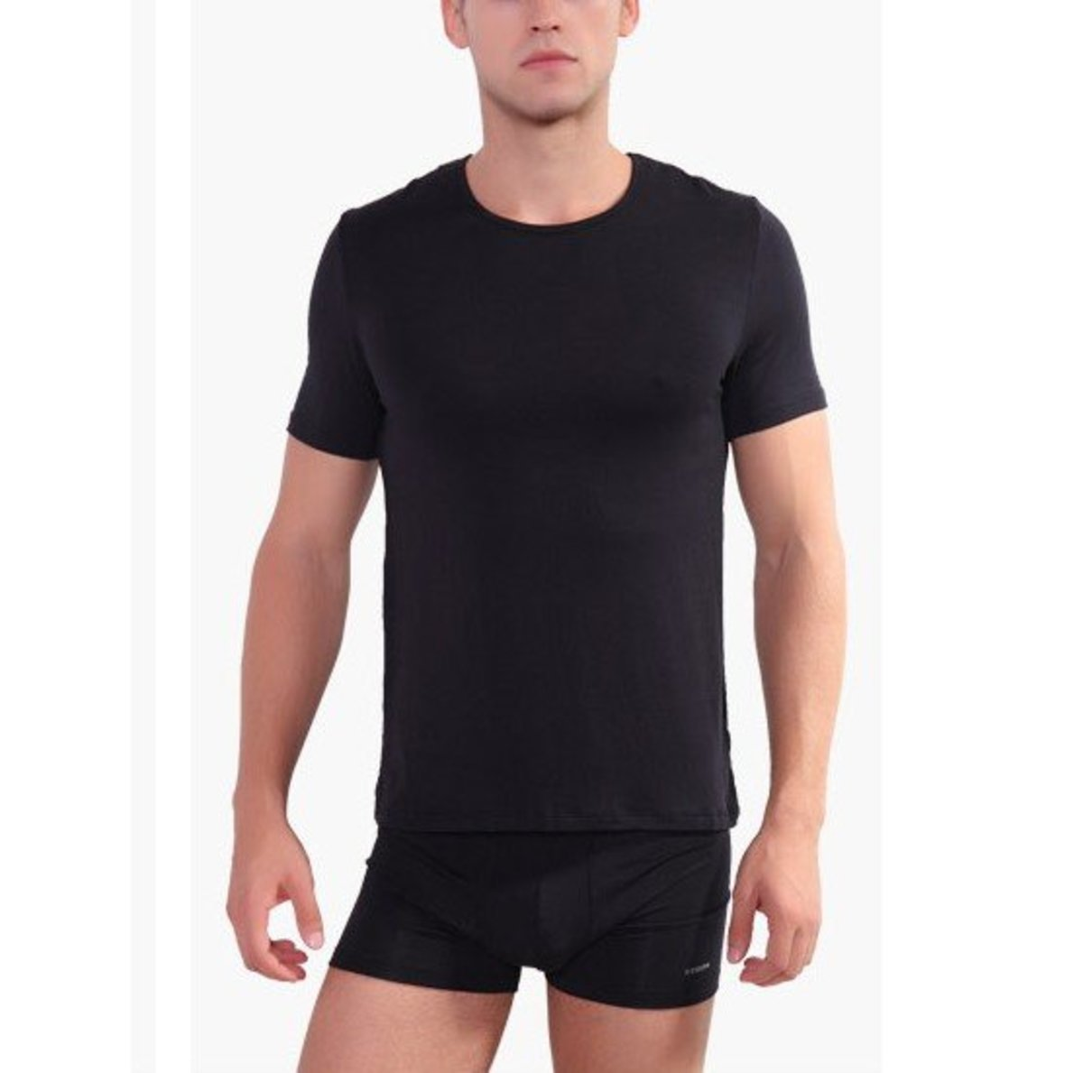 Men's Modal Short Sleeve Round-Neck Top