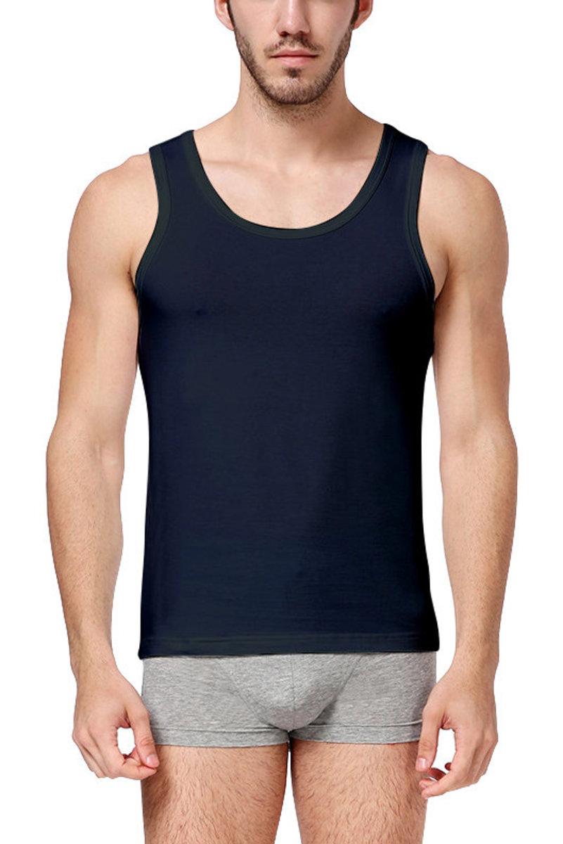Men's Cotton Round Neck Vest (2pcs pack)