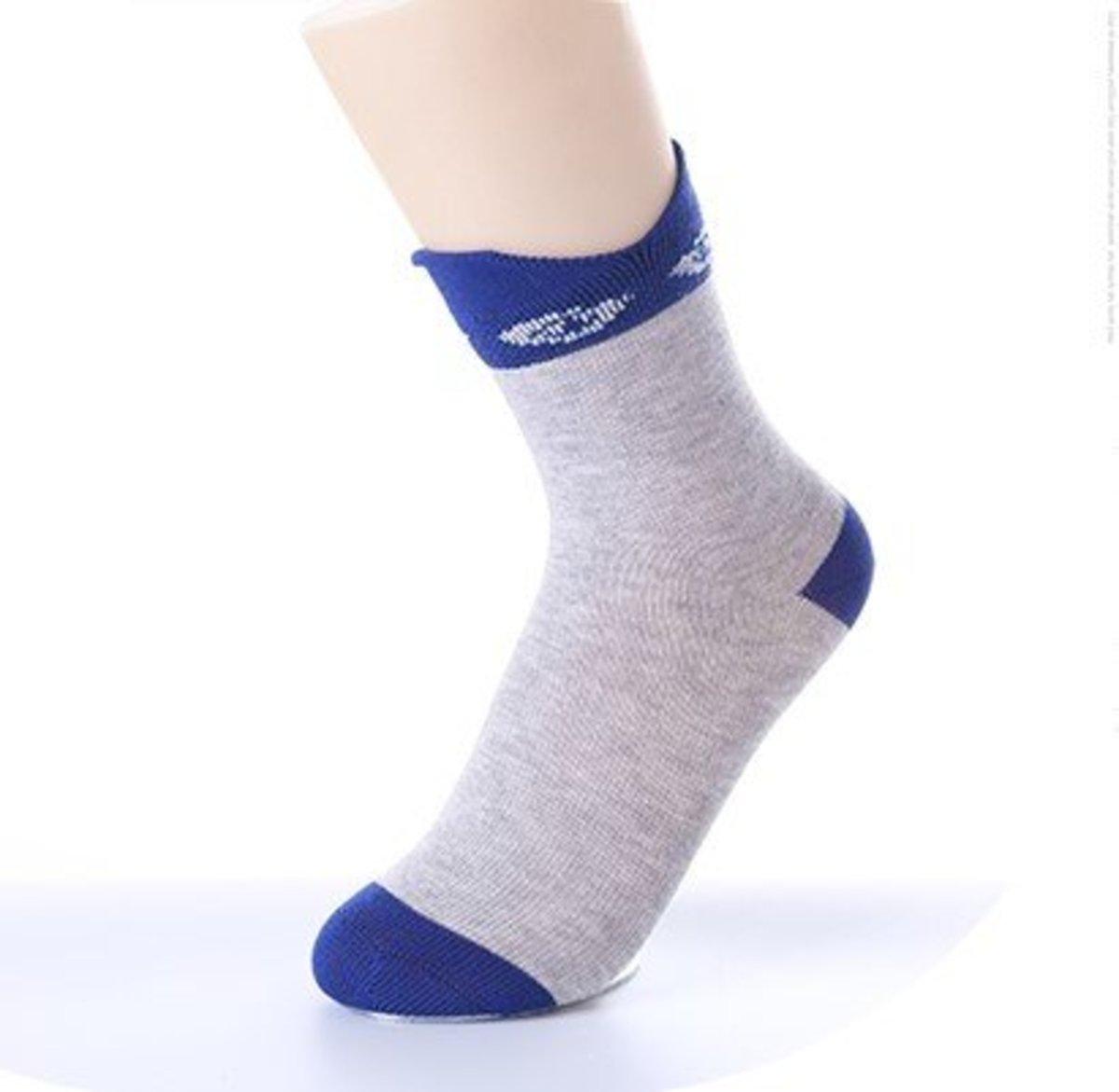 男童抗菌除臭棉質中筒襪
