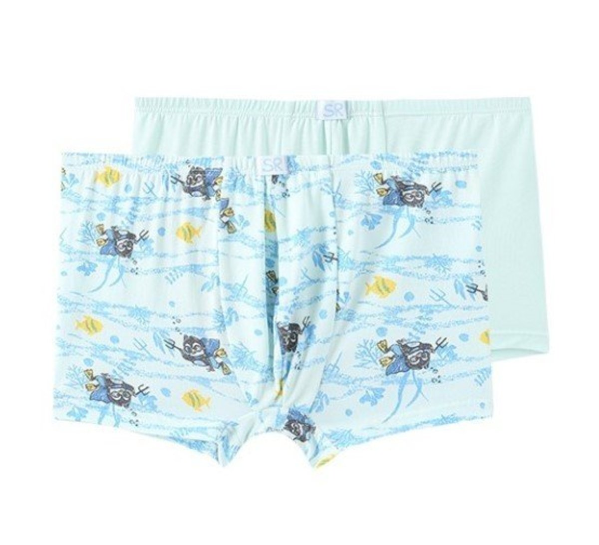 Boy's Printed Modal Trunks (2pcs Pack)