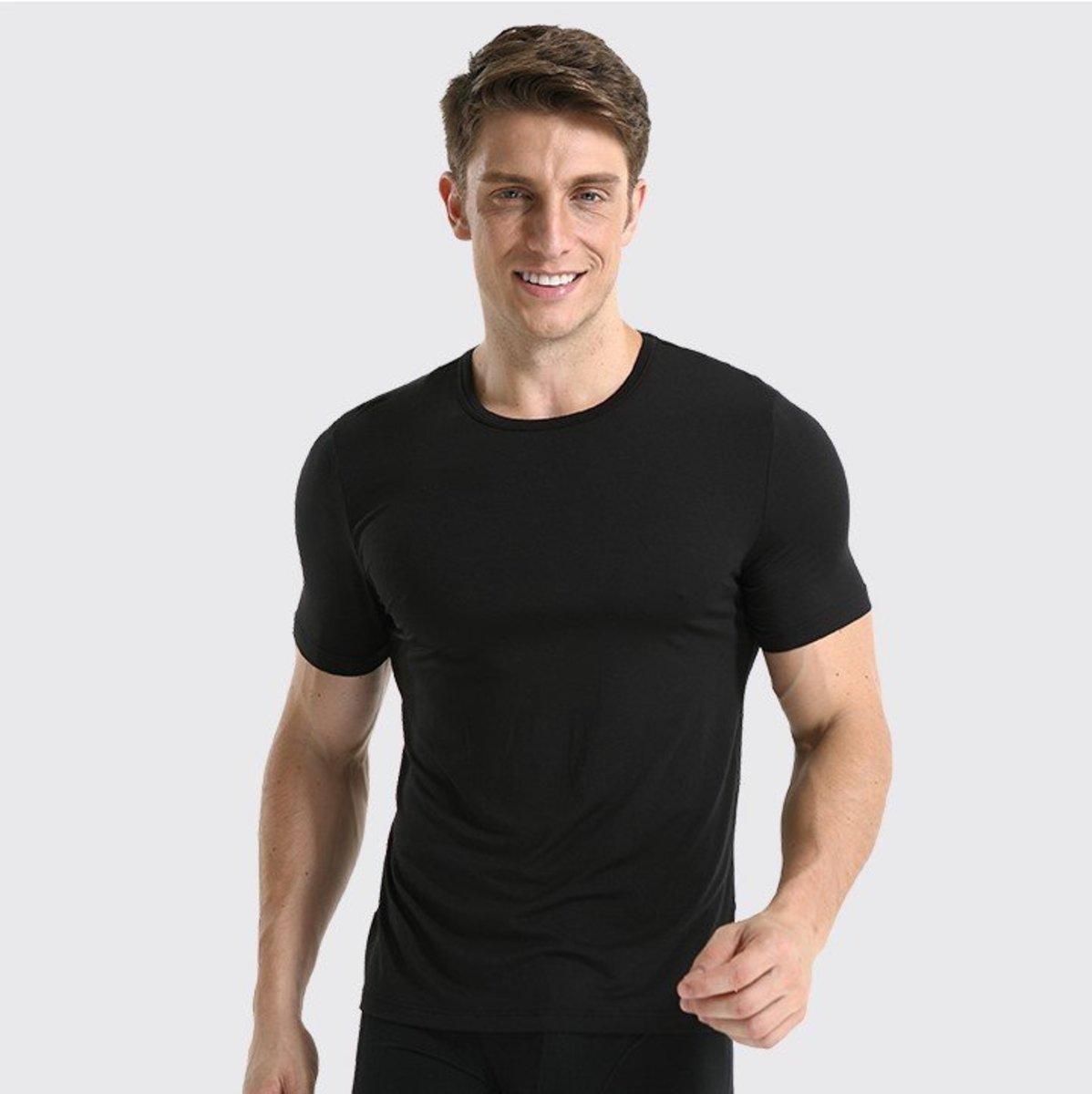 PLATINUM Men's Micro Modal Round-Neck Top