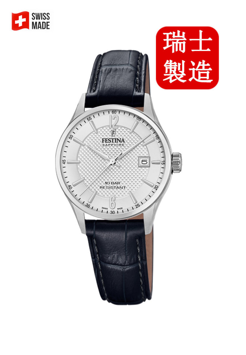 Festina Swiss-made Female Leather strap Watch F20009/1