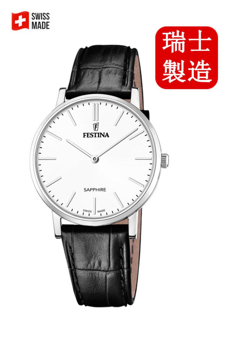 Festina Swiss-made Male Leather strap Watch F20012/1