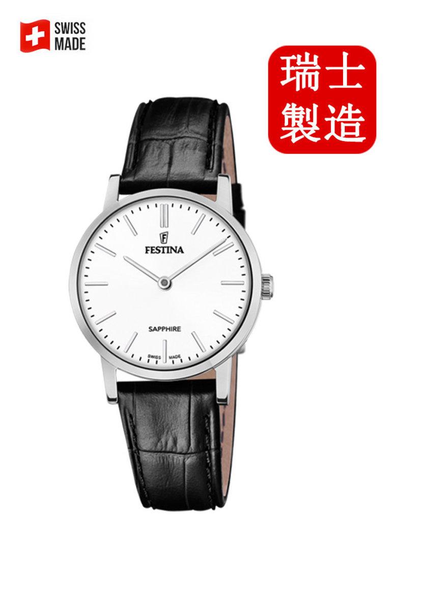 Festina Swiss-made Female Leather strap Watch F20013/1