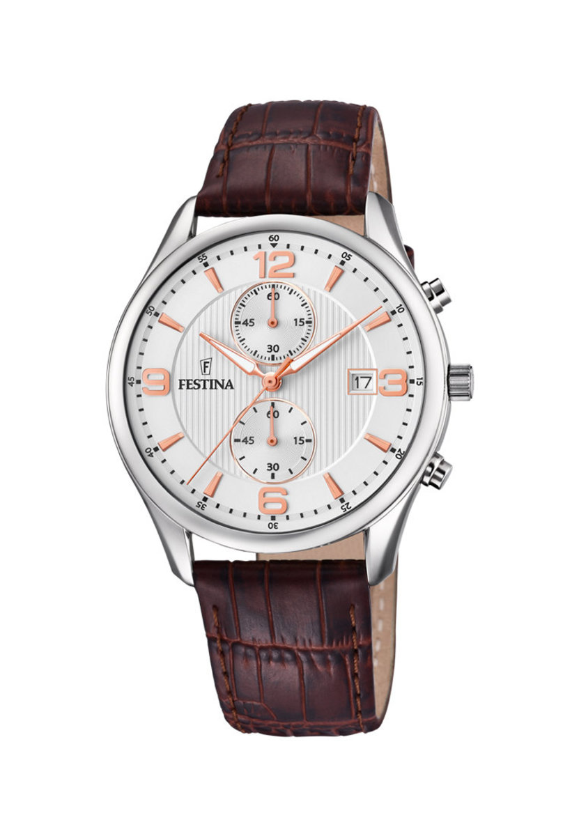 Festina  Chronograph Quartz Leather Strap Watch F6855/5