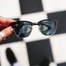 Cardiff // 偏光鏡片經典文青黑色半框太陽眼鏡