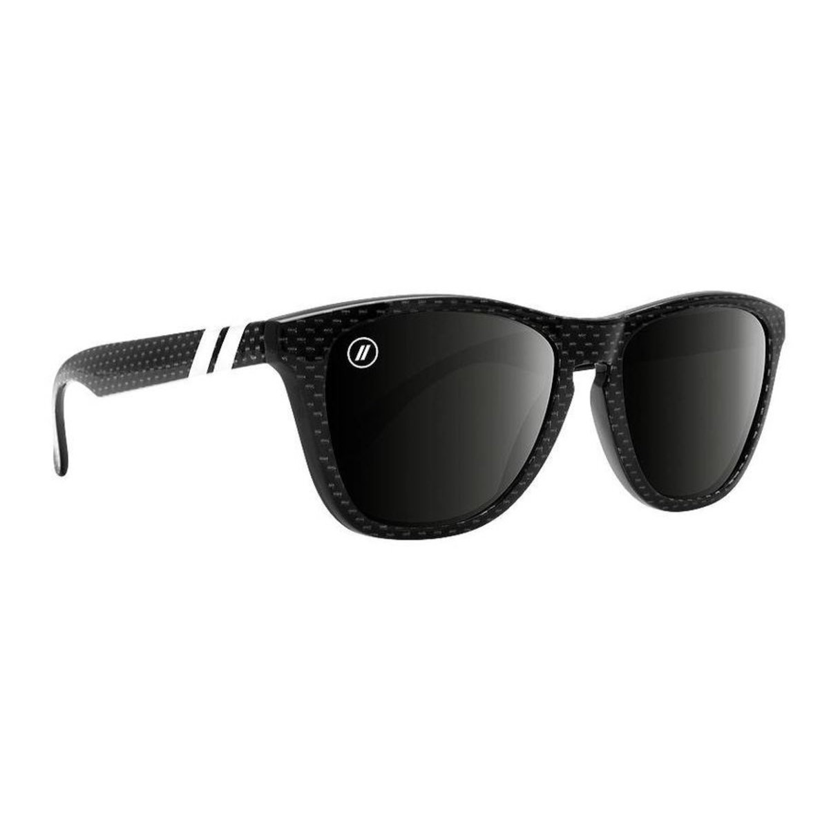 L Series // 偏光鏡片黑色花紋梯形鏡框太陽眼鏡