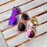 Northpark // 偏光鏡片淺橙色圓框太陽眼鏡